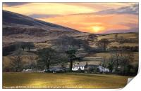 """""""Magic sunrise over Loweswater"""", Print"""
