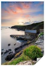 Sunset over the old lifeboat station (Lizard), Print
