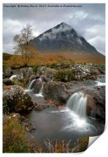 Glen Etive and River Coupall , Print