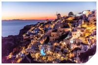 Sunset in Oia Santorini, Print