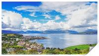 Firth of Clyde From Lyle Hill, Print