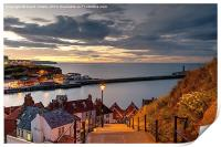 199 Steps in Whitby at Dusk, Print