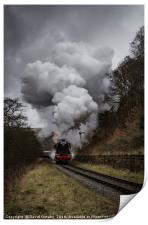 60103 Flying Scotsman nearing Goathland, Print