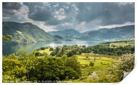 Ullswater and Glenridding from Gowbarrow Fell, Print