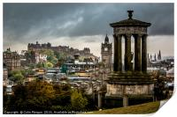 Edinburgh Castle from Calton Hill, Print