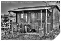 Shed at the back of a boat yard, Print