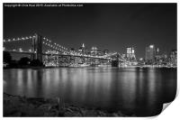 Brooklyn Bridge by Night, Print