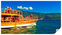 A daily cruise boat in Turkey , Print