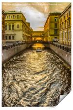 Swan Canal in St. Petersburg, Print