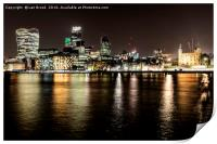 London at Night, Print