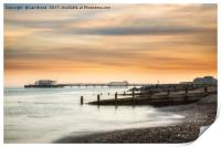 Worthing Pier at Sunset, Print
