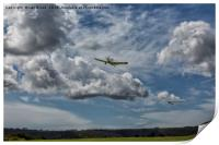 Glider and Tug Taking Off, Print