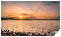 Budle Bay Nature Reserve Sunset, Print