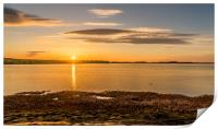 Photo's of Northumberland - Budle Bay Sunset, Print