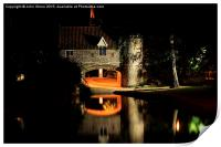 Pull's Ferry at Night, Print