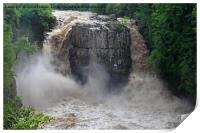 High Force in Flood, Teesdale, County Durham , Print