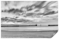 Blyth beach and piers, Print