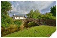 Dunsop Bridge in forest of bowland, Print