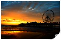 Central Pier Blackpool, Print