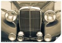 Alvis Vintage sports car grill and headlights, Print
