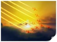 The wonderful Red Arrows, Print