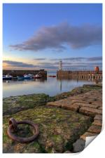 Newhaven lighthouse at sunset, Print