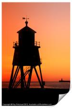 South Shields Groyne at Sunrise, Print