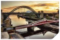 Early Morning in Newcastle, Print