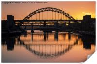 Tyne Bridge At Sunset, Print