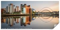 Summer Reflections on the Tyne, Print