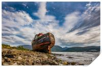 Corpach Wreck, Print
