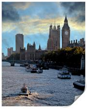 Westminster and the Thames, Print