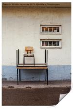 Two Chairs And Two Tables, Print