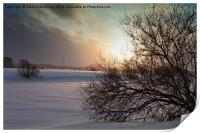 Sunset In The Snowfall, Print
