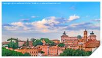 Aerial View Rome Cityscape, Print