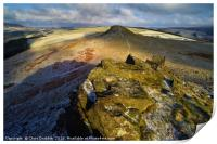 Crook Hill in Winter, Bamford, the Peak District, , Print
