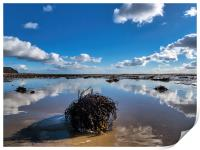 Winter Cloud Reflections at Charmouth, Print