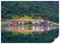 Reflections Sogndal, Print