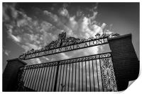 Bill Shankly gates Anfield, Print
