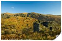 Abandoned Barn Upper Troutbeck Valley Lake Distric, Print