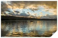Reflections on Lake Windermere, Print