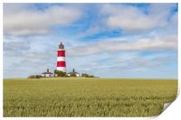 Happisburgh lighthouse on a summers day, Print