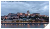 Buda Castle, overlooking the Danube, in Budapest, Print