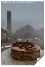A scale model of old Welsh, Ironworks. Ebbw vale, Print