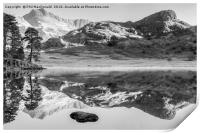 Blea Tarn, Lake District (B&W), Print