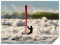 The Windsurfer and the High Wave, Print