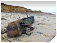 Happisburgh Beach North Norfolk after the Storm, Print