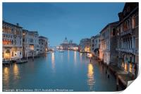 Twilight View from the Accademia Bridge, Print