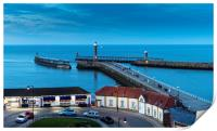 Night Descends on Whitby, Print