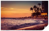 Sunset Moment in Hawaii 0015, Print